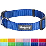 "Blueberry Pet 12 Colors Classic Dog Collar, Royal Blue, Small, Neck 12""-16"", Nylon Collars for Dogs"
