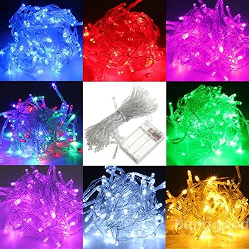 10M Battery Powered 100 LED Starry Fairy String Light Lamp Wedding Xmas Party La ( White ) (2)