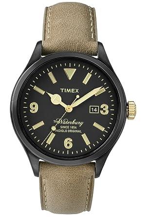 333d30cc5acc Timex Reloj Analogico para Hombre de Cuarzo con Correa en Cuero TW2P74900   Amazon.es  Relojes