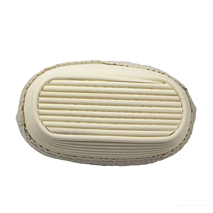 obeauty Top calidad hand-craft cesta de pan rectangular Oval Brotform cuenco para levar masas Borradores de ratán con gamuza para, 25x15x8cm: Amazon.es: ...