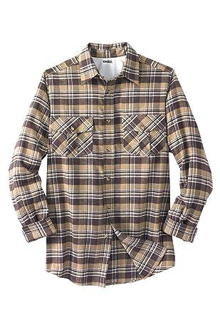 3e5881dbc2fc Amazon.com  KingSize Men s Big   Tall Plaid Flannel Shirt  Clothing