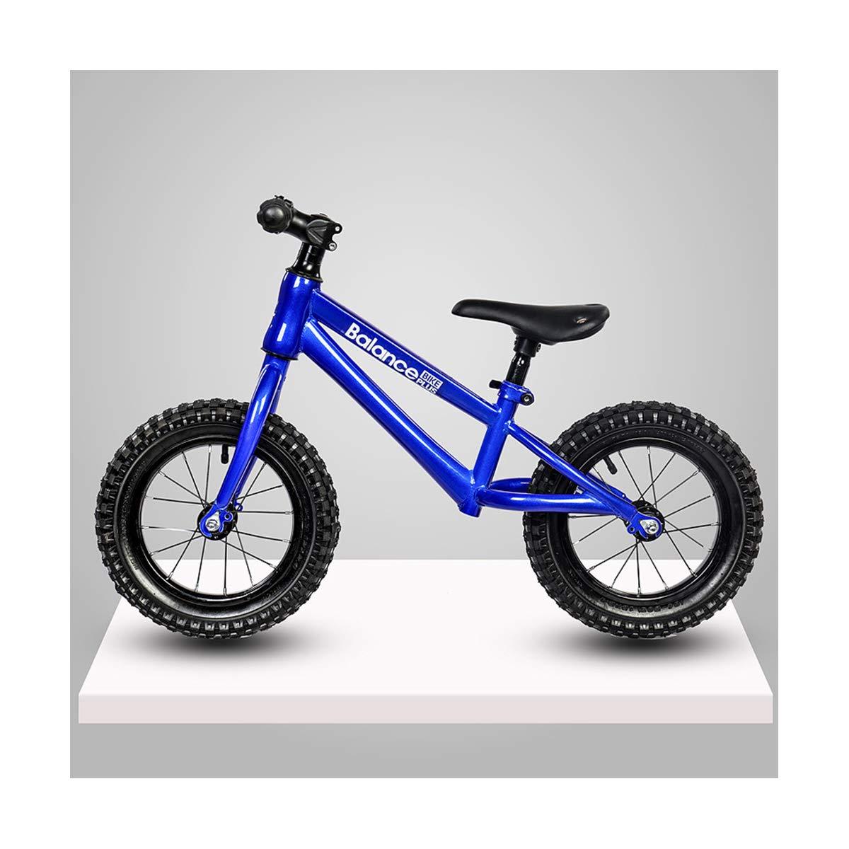 LIDU Balance Bikes Pedal-weniger Kohlenstoffstahl Balance Fahrrad Walker Für 26 Jahre Alt Kinder Shockingproof Carbon Rahmen Kinder Fahrrad Blau