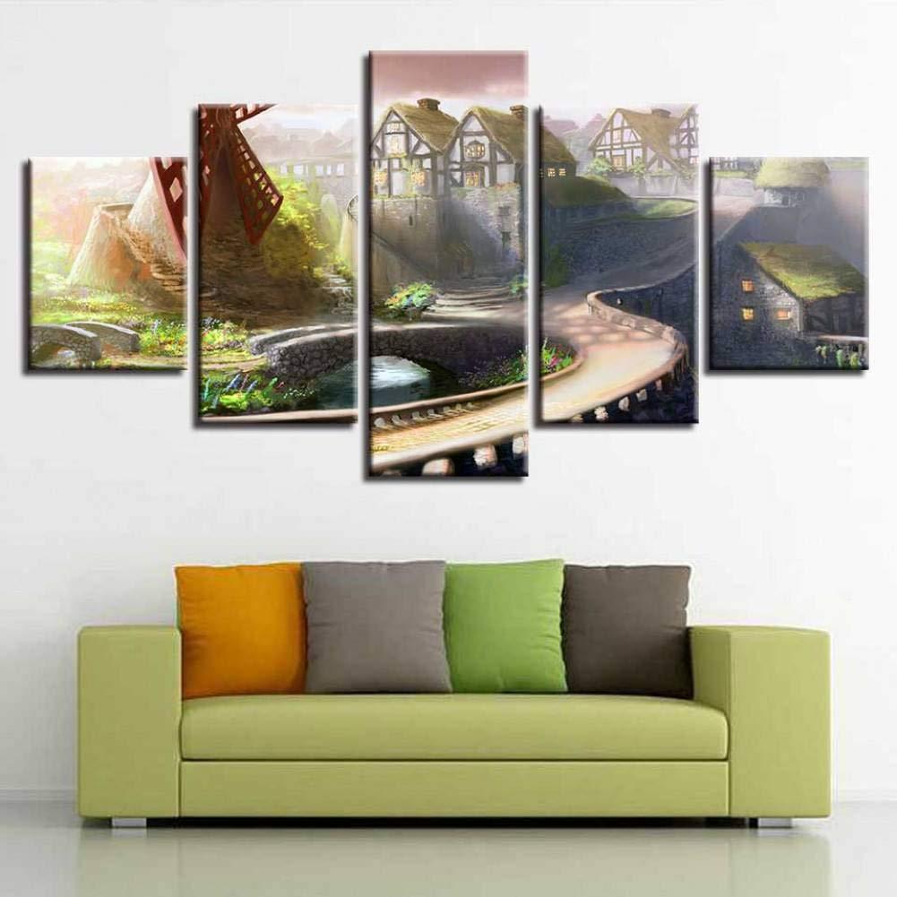 Amazon.com: WPFZH Decor Room Wall Impresión Pinturas Arte 5 ...