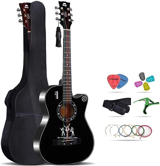 Loivrn Guitarra acústica de cuerda de nylon de 38 pulgadas ...
