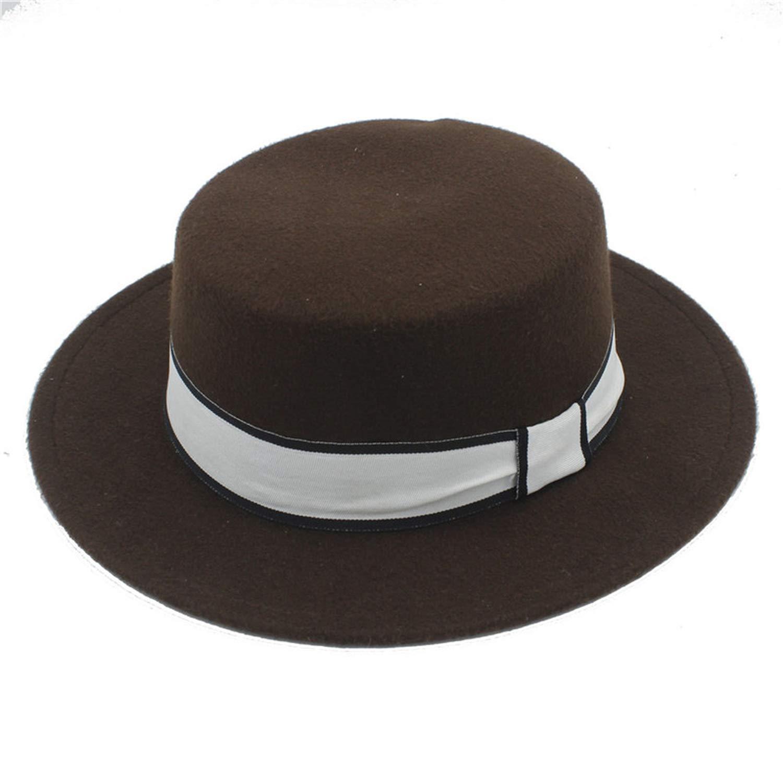 Women Men Wool Flat Homburg Fedora Hat Lady Gentleman Spring Summer Autumn Jazz Church Boater Pork Pie Caps