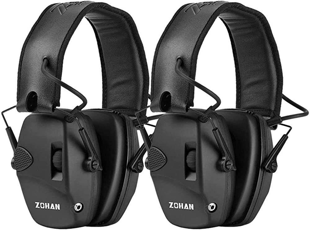 ZOHAN EM054 Electronic Ear Protection for Shooting Range with Sound Amplification Noise Reduction, Ear Muffs for Gun Range