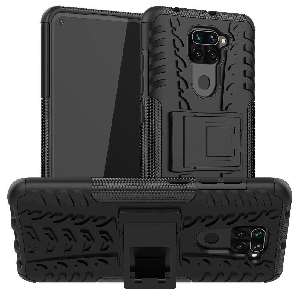 Lustree Redmi Note 9 Kick Stand Back Cover