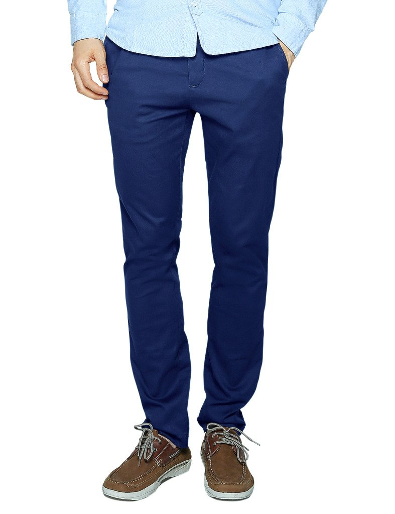 Match Men's Slim Tapered Stretchy Casual Pant (36, 8066 Washed blue) by Match