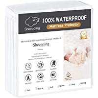 SHEEPPING Mattress Protector/Cover, Bed Cover, Bedding -Waterproof, Cotton Terry Surface, Anti Slip, Premium Hypoallergenic, Fitted, Breathable, Vinyl Free