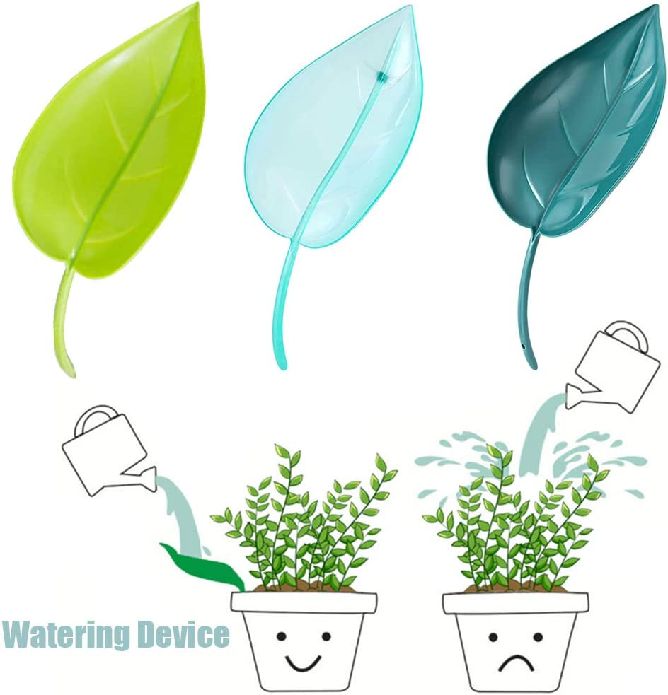Leaflow Plant Pot Watering Funnel Self Watering Devices for Indoor Outdoor Plants gense 6 Pack Plant Watering Device 2pcs for Each Colour