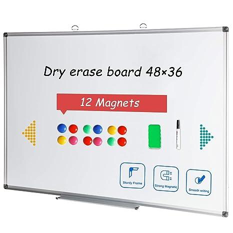 Amazon.com: Pizarra magnética de borrado en seco con marco ...