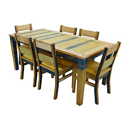 The Beach House Design Reclaimed Collection Dining Set: 1 71\