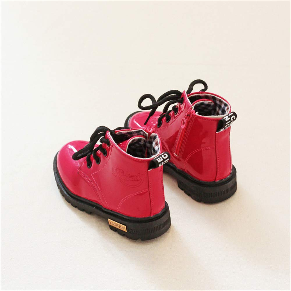 Dolwins Girls Boys Martin Boots Ankle Fashion Boots Princess Party Shoes High Top