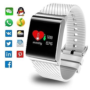 LIGE Fitness Trackers, Monitor de frecuencia cardíaca Relojes de Fitness Reloj Inteligente IP67 Impermeable Rastreador de Actividad Pulsera Inteligente con ...