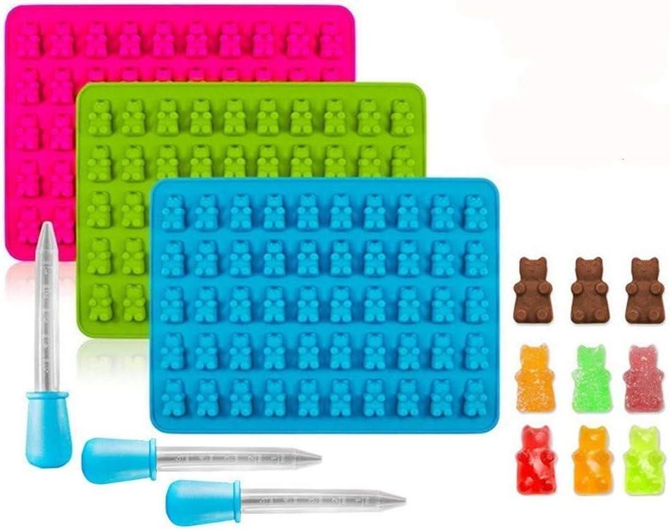 Molde Silicona con certificaci/ón LFGB y Sin BPA 4-Pack, Verde para Cubitos de Hielo Reutilizable DOQAUS Moldes para Cubitos de Hielo Molde Hielo Silicona con Tapa