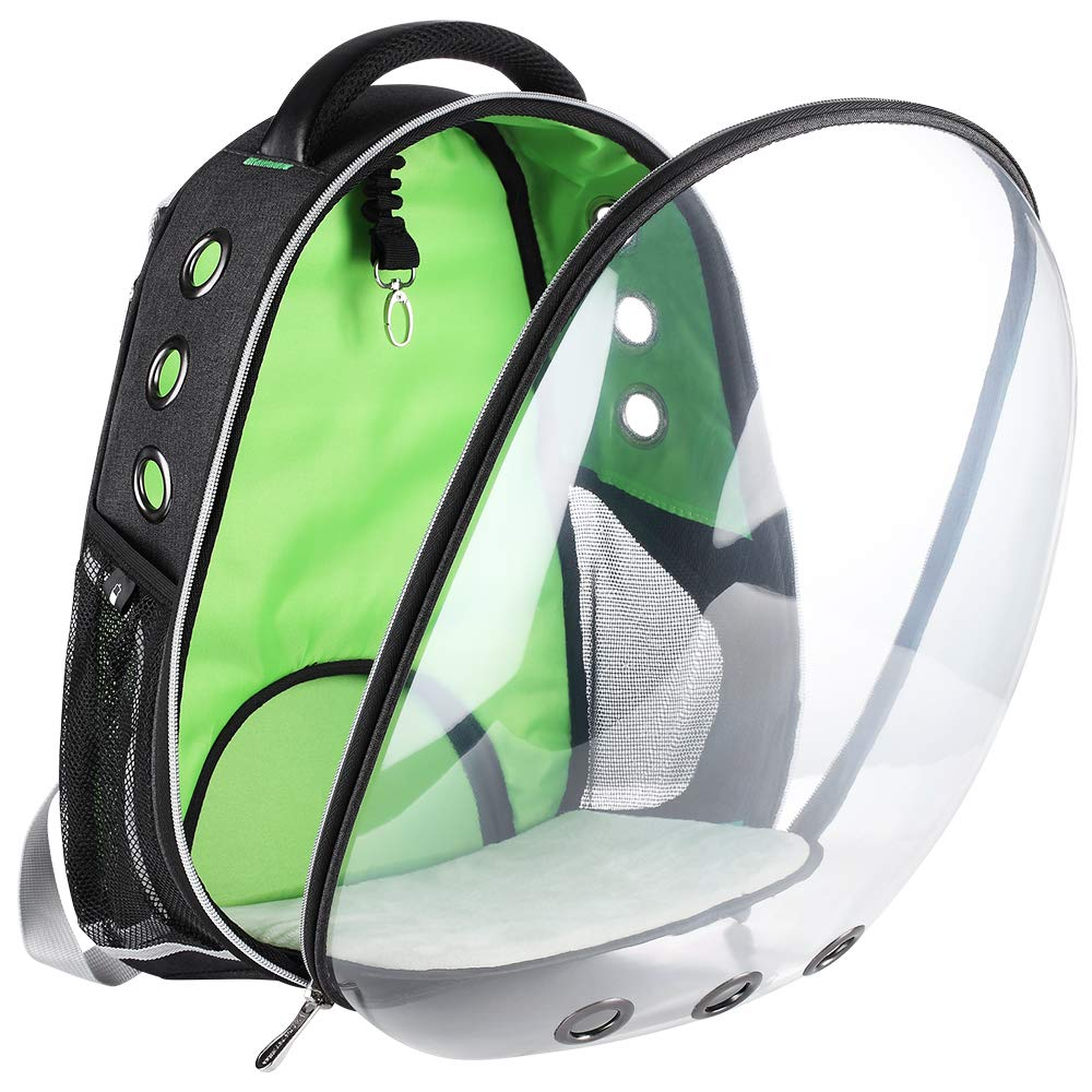 YEAKOO Transparent Travel Pet Carrier bag Breathable Carriers Fashionable Portable Space Capsule Bubble Cat Dog Carrier Backpack Baby Blue