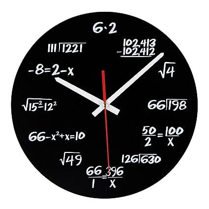 Relojes de pared Silencioso Reloj de pared simple personalizado Ciencia y tecnología Función Reloj Decoración de