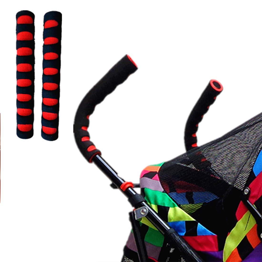 2 piezas//juego de cubierta de manija de coche de beb/é//cochecito de beb/é Juego de reposabrazos de espuma EVA//accesorios de cochecito de beb/é