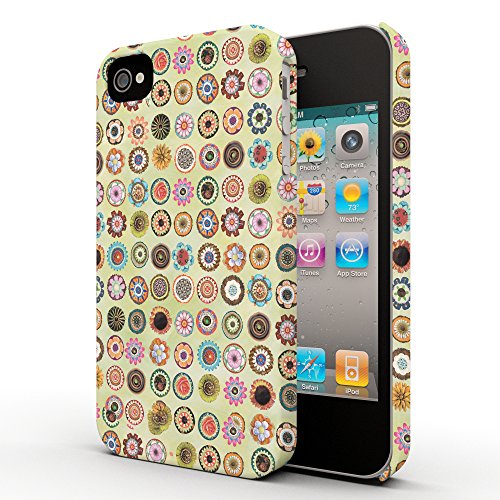 Koveru Back Cover Case for Apple iPhone 4/4S - Pattern of flowers