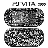 Skin Decal Cover Sticker for Sony PlayStation PS Vita Slim (PCH-2000) - Say Hello Pattern