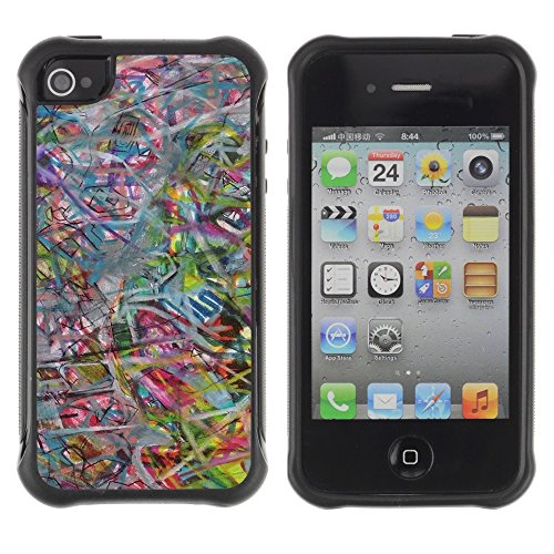 Apple Iphone 4 / 4S - Abstract Art Pastel Color