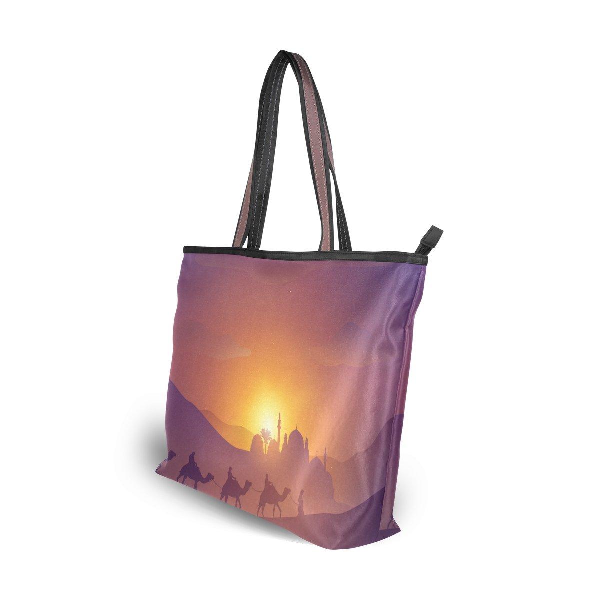 1870f59a96 Amazon.com: U LIFE Vintage Turkish Stripe Camel Desert Travel Carry On Tote  Bag Handbags: Shoes