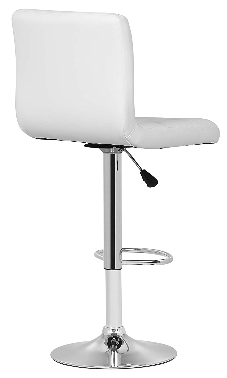 Your Price Furniture.com 1 Milan Bar Stool White Faux Leather Padded Seat /& Backs Swivel Kitchen Island Breakfast Bar Chair Height Adjustable