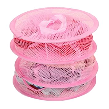 197d2b1495e Amazon.com   HuaYang Hanging Mesh Bra Underwear Socks Storage Net 3 Shelf  Tier Semi-closed Organizer Pink   Baby