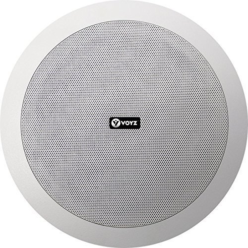 Voyz In-Wall / In-Ceiling Dual 8-Inch Speaker System, Directable Tweeter, 2-Way, Flush Mount, White (Speakers In Ceiling 8)