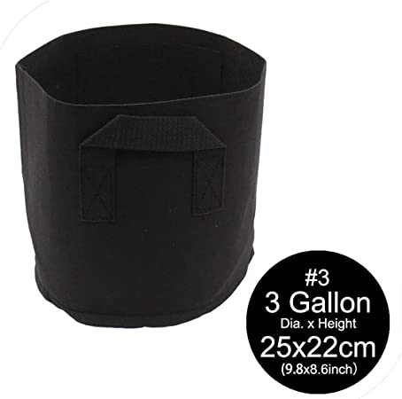 5 Pack Grow Bags Fabric Plants Pots Root Pouch with Handles Breathable 7 Gallon