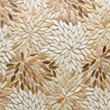 Dazzle Mosaic Matchstix Torrent Glass Floor and Wall Tile Stained glass for Kitchen Backsplashes, Bathroom Walls, Spas, Pools by Dazzle Mosaic (10 Pack)