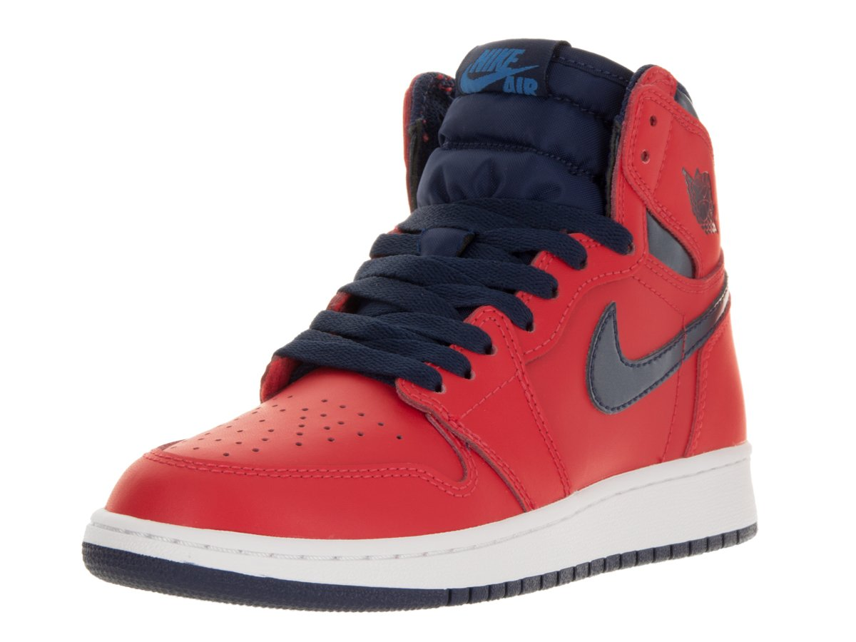 Amazon.com  Jordan Air 1 Retro High OG BG David Letterman Youth Sneakers  New Light Crimson - 5.5  Sports   Outdoors 1dcf29ad015e