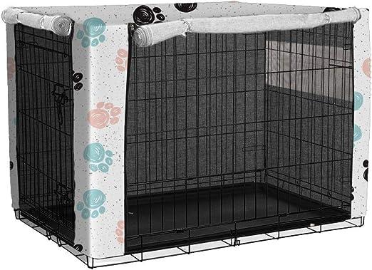 TUYU Funda para jaulas de perro a prueba de polvo con poliéster, duradera a prueba de