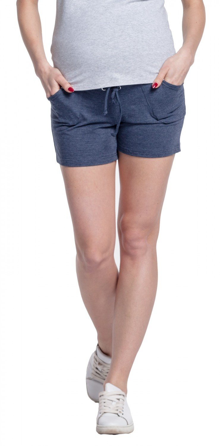 Happy Mama Women's Shorts Maternity Short Pants Elastic Belly Band Pockets. 259p pregshorts_259