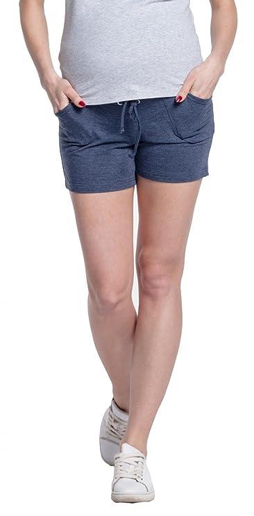 b40124589 Para Mujer Premamá Pantalones Cortos Banda Elástica Bolsillos. 259p