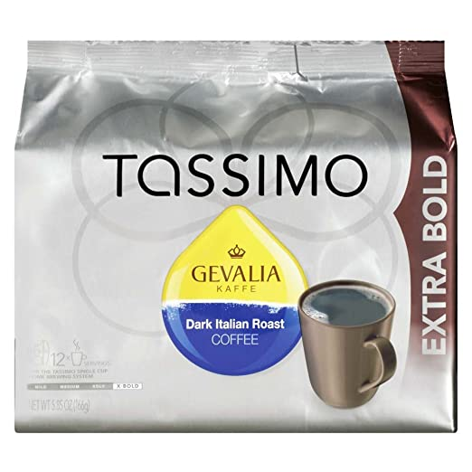 Gevalia Dark Italian Roast Tassimo T-Discs , Caffeinated, 12 ct - 5.85 oz Package