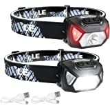 LED Headlamp Flashlights, Rechargeable Headlights with 6 Modes, Super Bright, Lightweight and Comfortable, Perfect for Adults