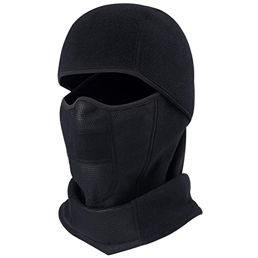 ef0869ede45 Windproof Balaclava Fleece Hood with Neck Cover Half Face Ski Mask with Air  Hole (Balaclava