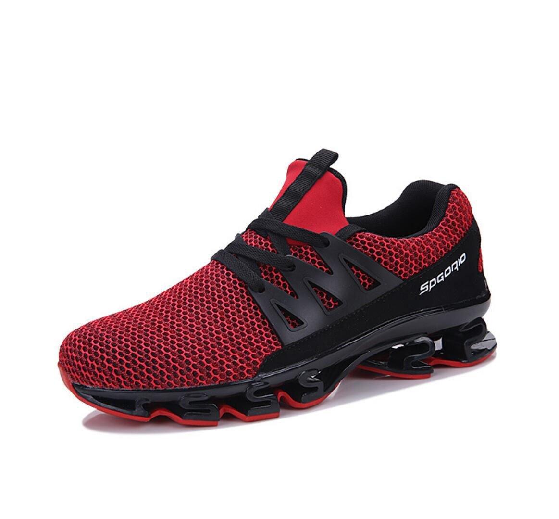WSK Männer Turnschuhe Mesh Atmungsaktive Dämpfung Casual Schuhe Laufen Herrenschuhe Erhöhen Größe 39-47