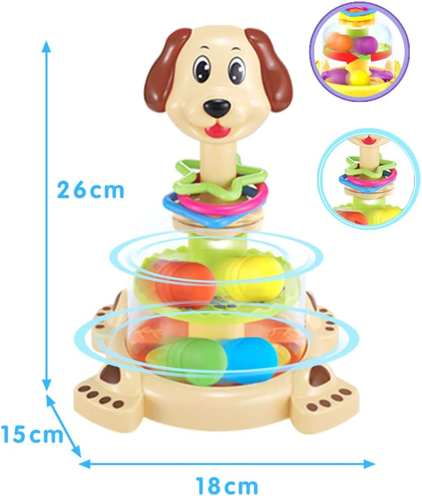 Brain Game Gowsch Baby Spinning Dog Gyro Game Juguete para el ...
