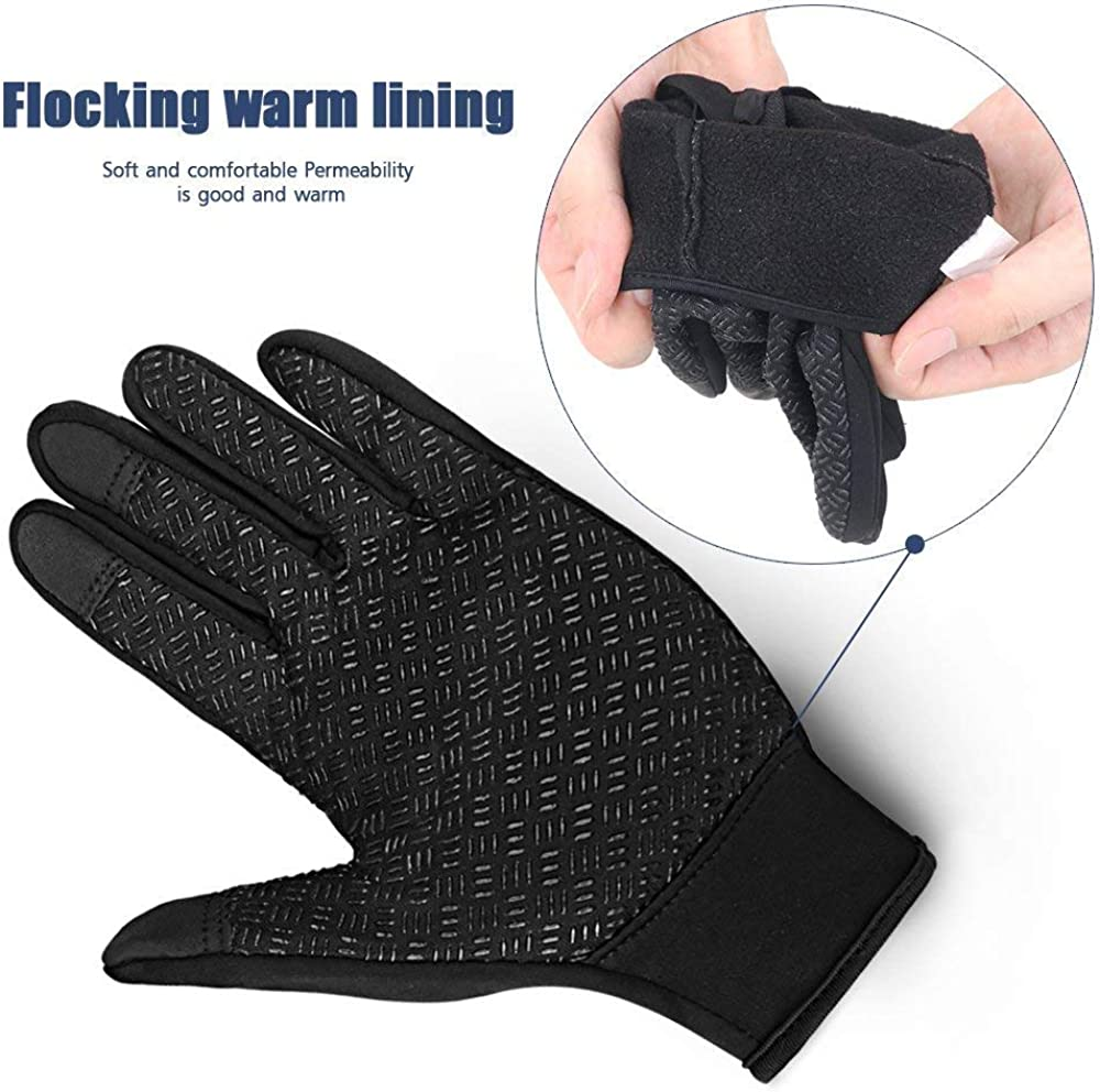 Cycling Gloves Waterproof Touchscreen in Winter Outdoor Bike Gloves Adjustable Size