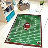 Universal 700 Corner Football Rectangle 6'7X9'2 Area Rugs, Green