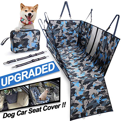 MOVEPEAK Waterproof Seat Covers for Dogs/Pet Dog Seat Cover for Cars and SUV(Camouflage