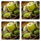MSD Square Coasters Non-Slip Natural Rubber Desk Coasters design 21977445 Vintage spa