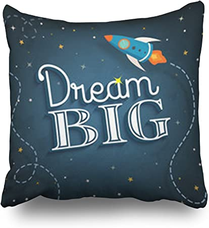 HeroWoW Throw Pillow Covers Dream Big