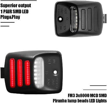 RED OLED TUBE 1 Pair Full LED License Plate Light For Tacoma//Tundra 2005-2015