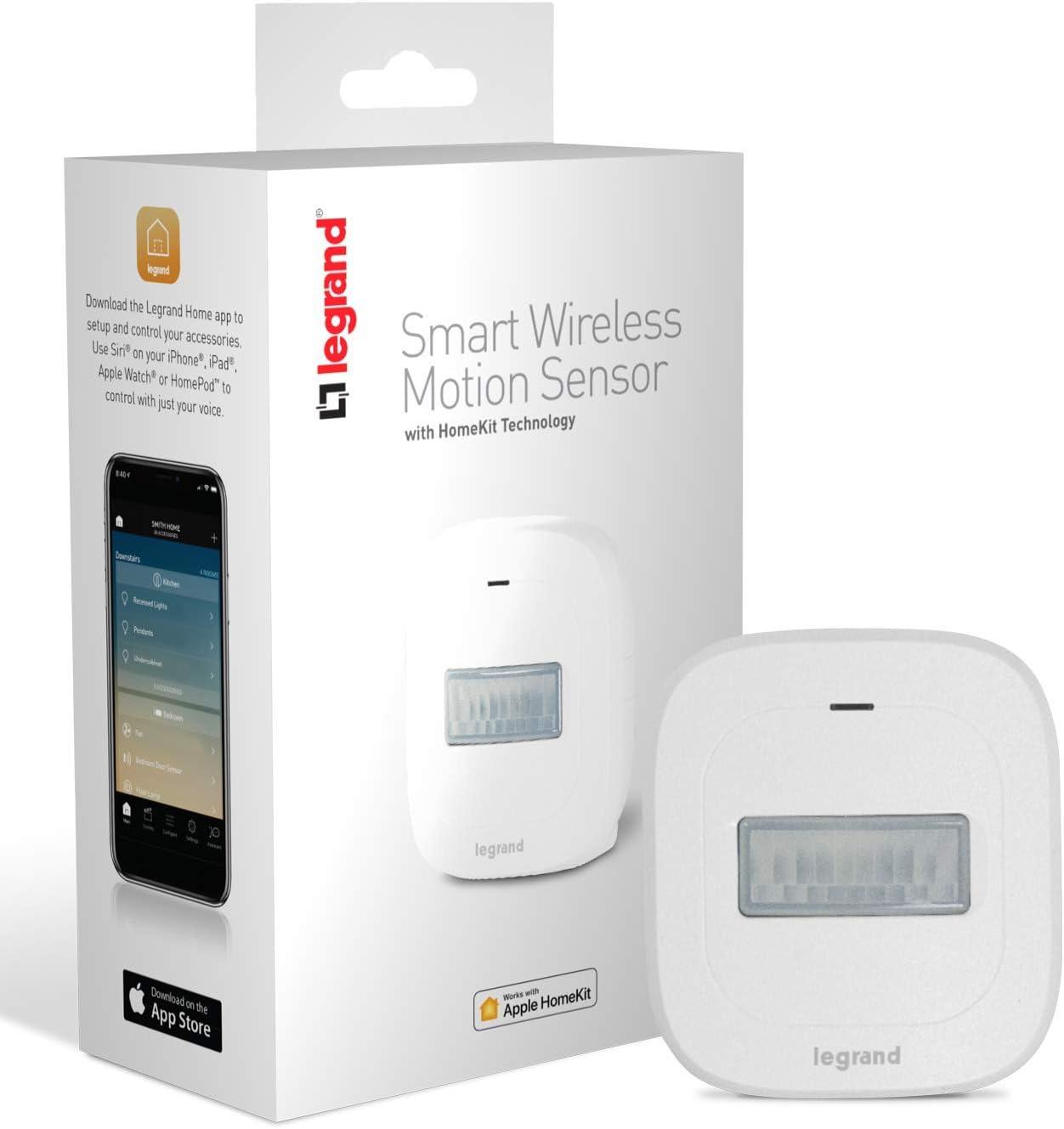 Legrand-On-Q Sensor de movimiento inteligente, funciona con Apple HomeKit, inalámbrico, Bluetooth de baja energía, HKMS2: Amazon.es: Bricolaje y herramientas