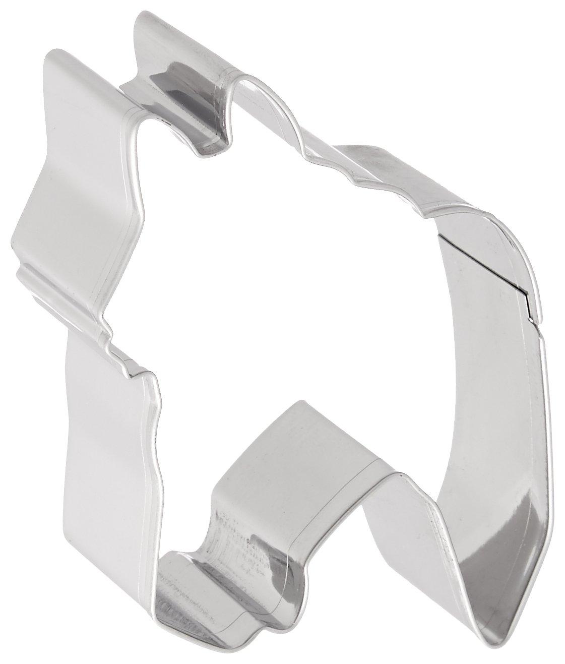 Fox Run 2428 Horse Head Cookie Cutter, 3-Inch, Stainless Steel