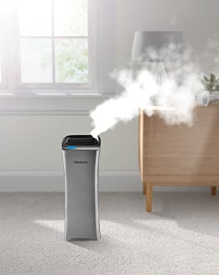 Oreck WK15500B Air Refresh 2-in-1 Hepa Air Purifier & Ultrasonic Humidifier for Small Rooms,