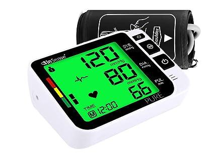 InSense PURE Tensiómetro de brazo Monitoree automáticamente la medición con una pantalla LCD digital Estuche portátil